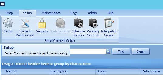 SmartConnect Setup menu