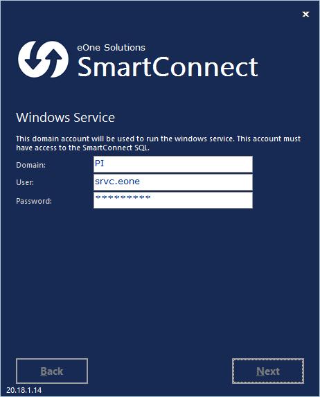 SmartConnect - Windows Service