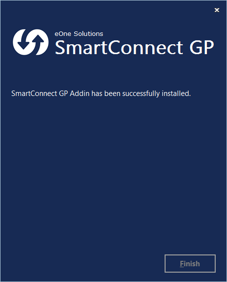 SmartConnect - SmartConnect GP Addin has been successfully installed