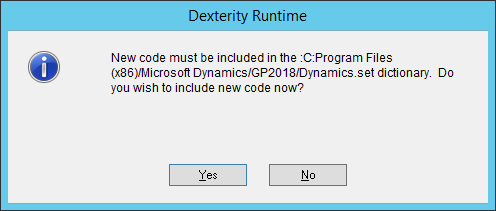 Include new code