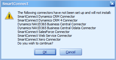 SmartConnect dialog
