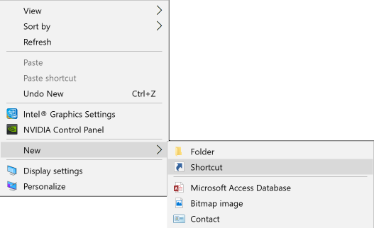 Windows right-clickcontext menu