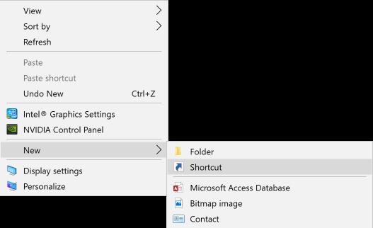 Windows right-clickcontext menu