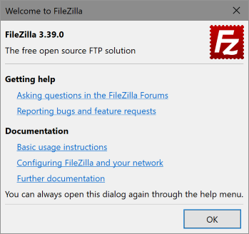 Welcome to FileZilla