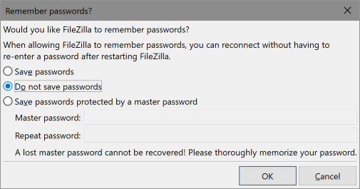 Remember Passwords?
