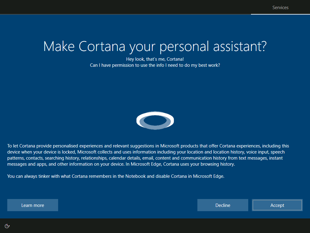 Services: Make Cortana your personal assistant?