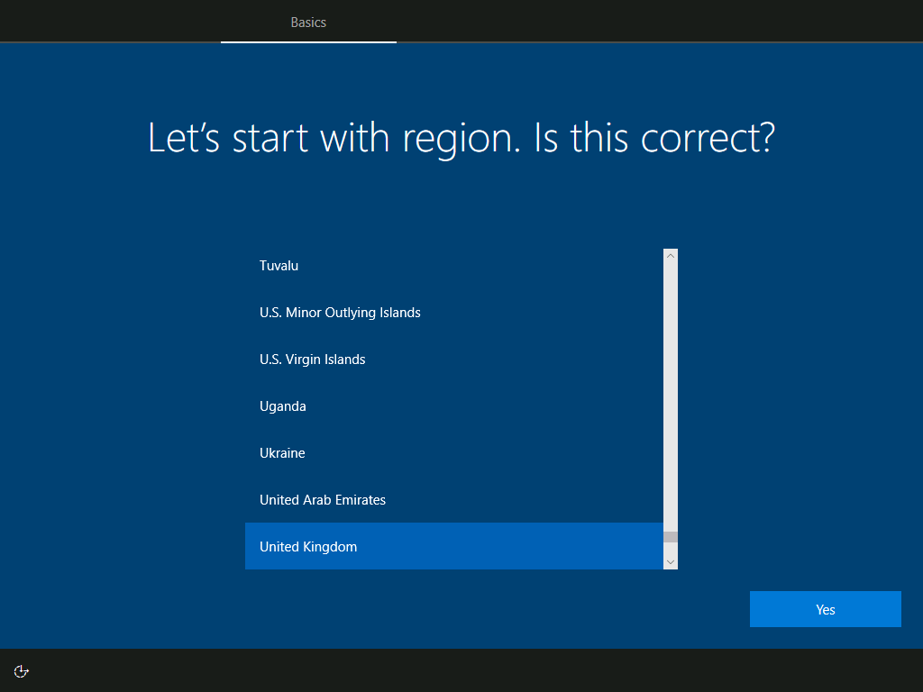 Basics: Let's start with region. Is this correct?