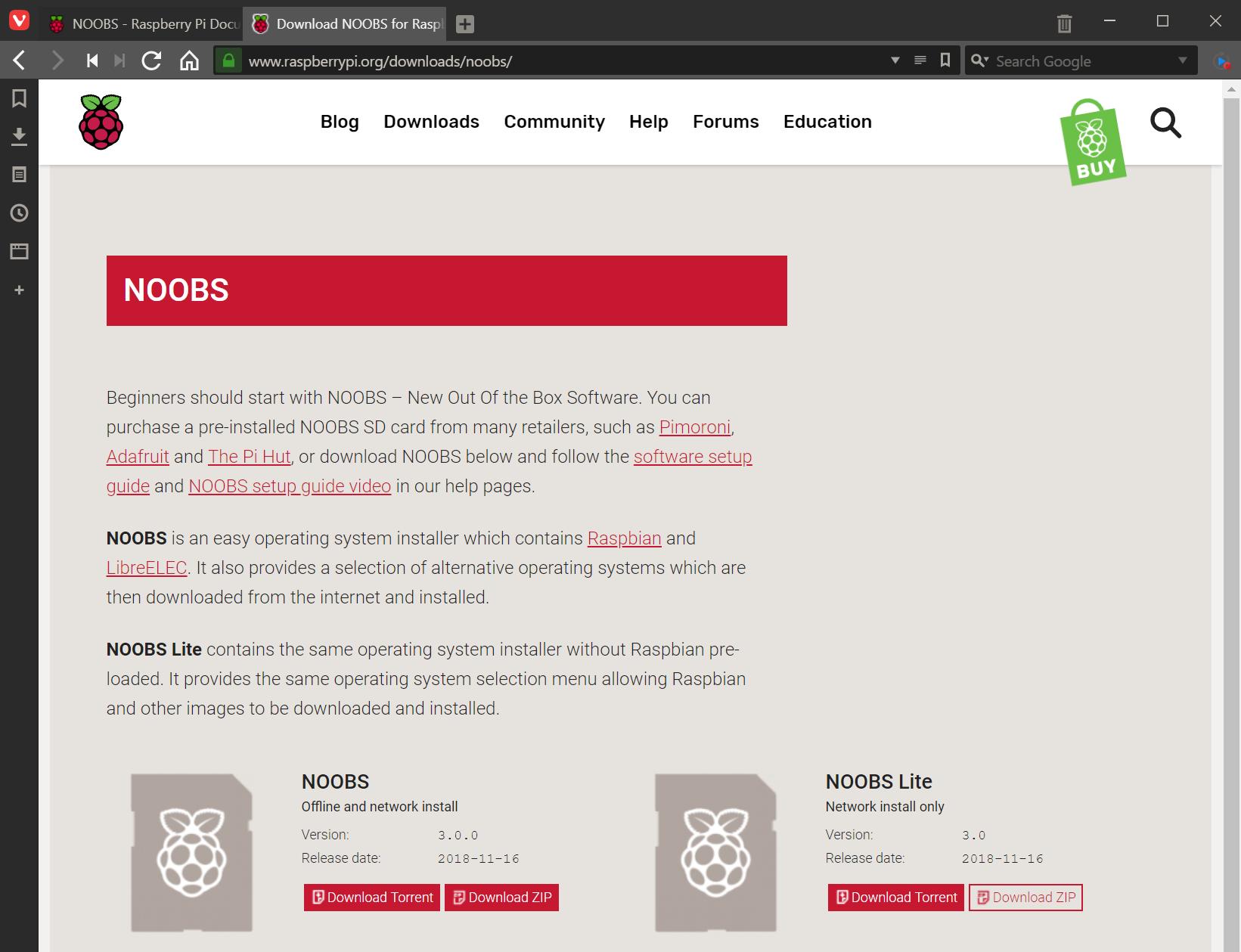 Download Raspbian Lite