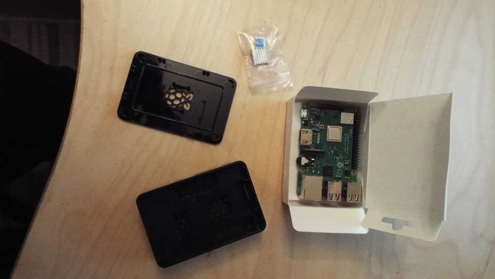 Raspberry Pi case and motherboard