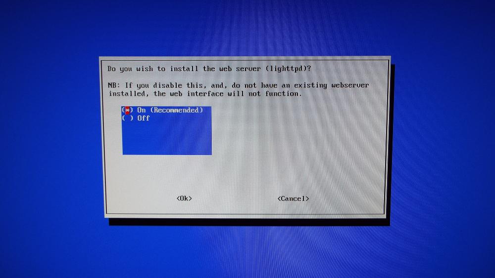Confirm insall of web server