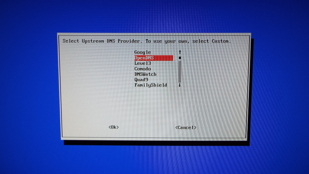 Select Upstream DNS Provider