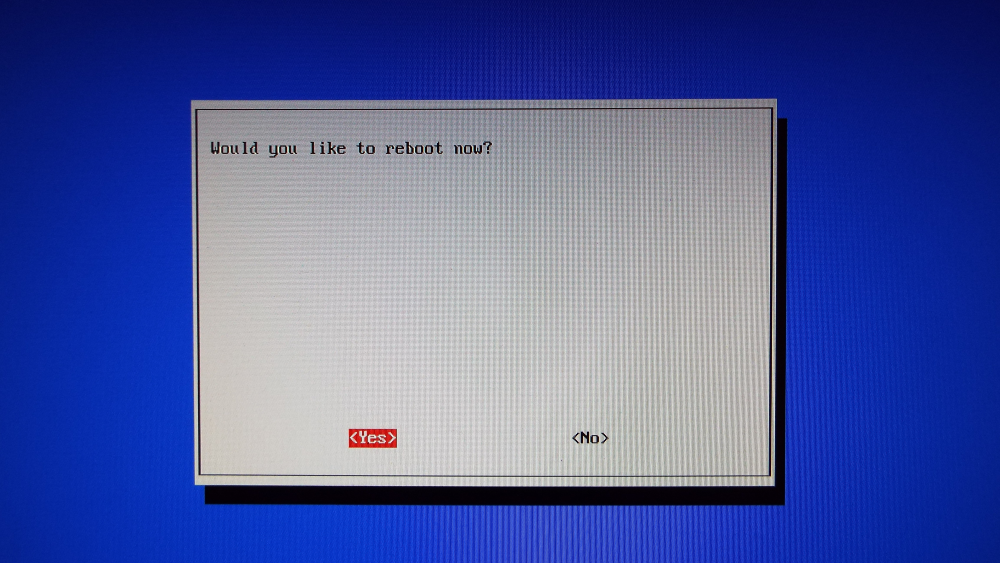 Would you like to reboot now?