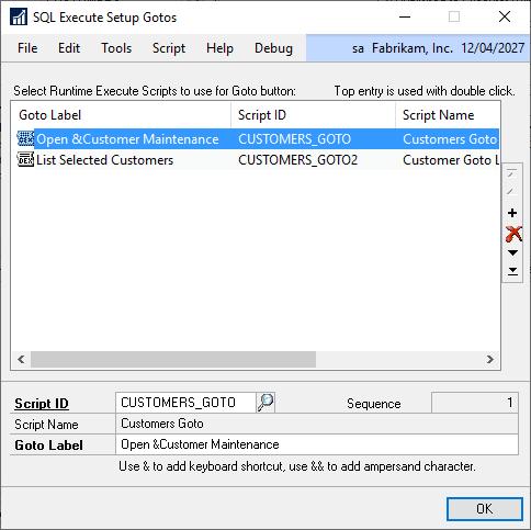 SQL Execute Setup GoTos
