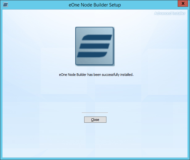 eOne Node Builder Setup: eOne Node Builder has been successfully installed