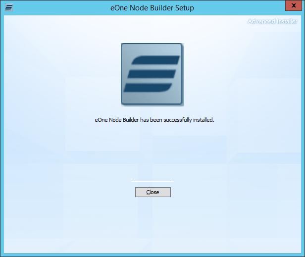 eOne Node Builder Setup: eOne Node Builder has been successfully installed