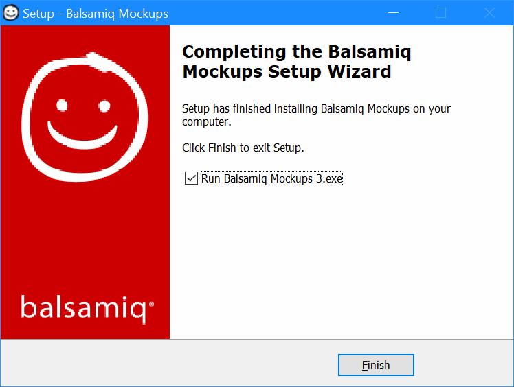 Setup - Balsamiq Mockups - Completing the Balsamiq Mockups Setup Wizard