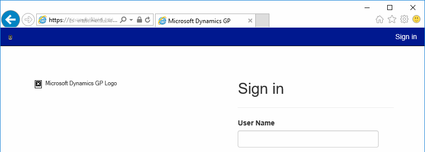 Web client login page