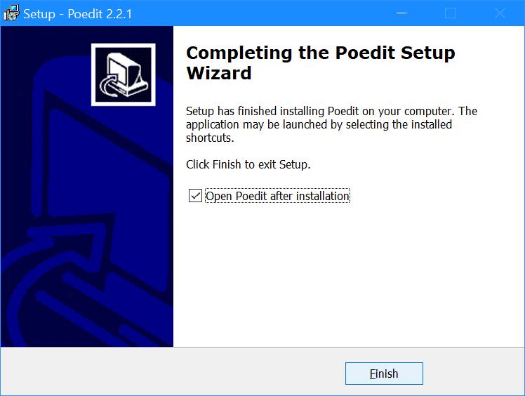 Setup Poedit - Completing the Poedit Setup Wizard