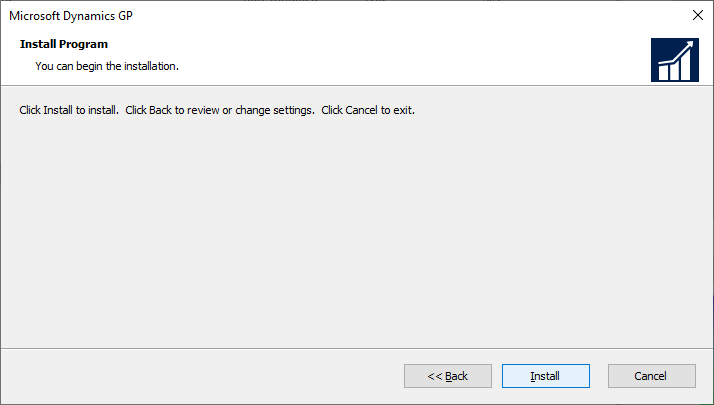 Microsoft Dynamics GP - Install Program