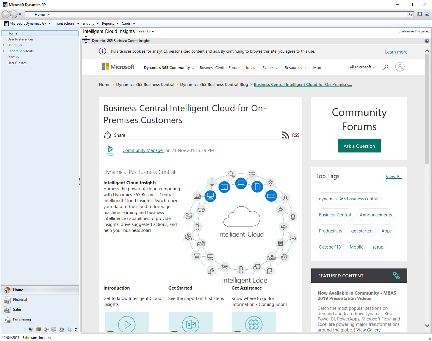 Dynamics 365 Business Central Insights