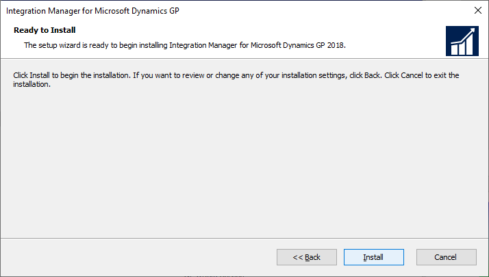 Integration Manager for Microsoft Dynamics GP - Ready to Install