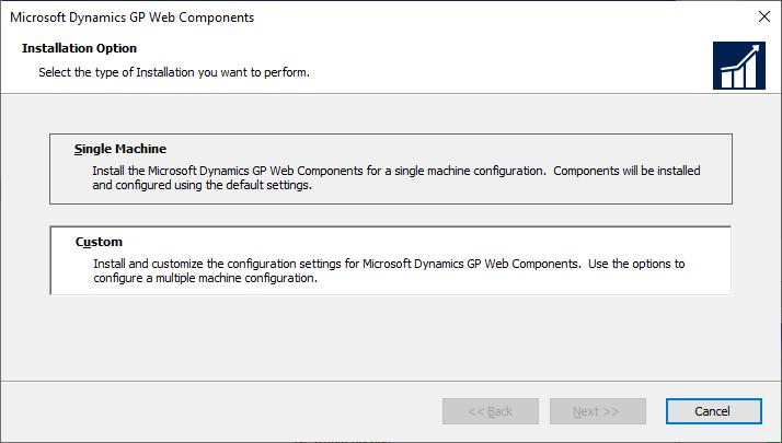 Microsoft Dynamics GP Web Components - Installation Option