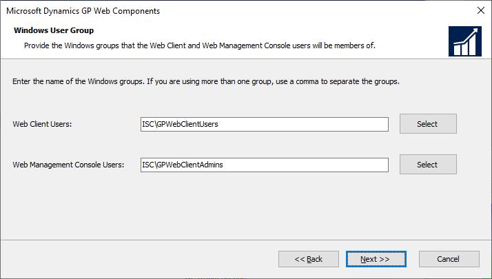 Microsoft Dynamics GP Web Components - Windows User Group