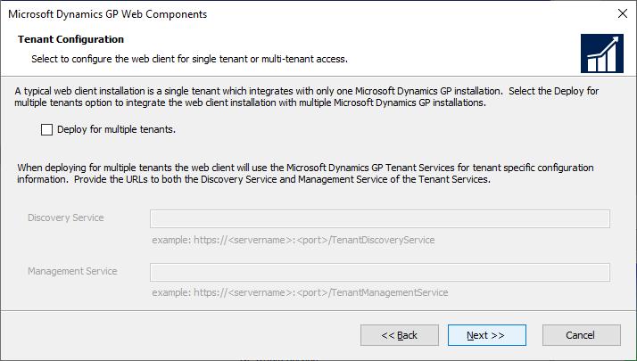Microsoft Dynamics GP Web Components - Tenant Configuration