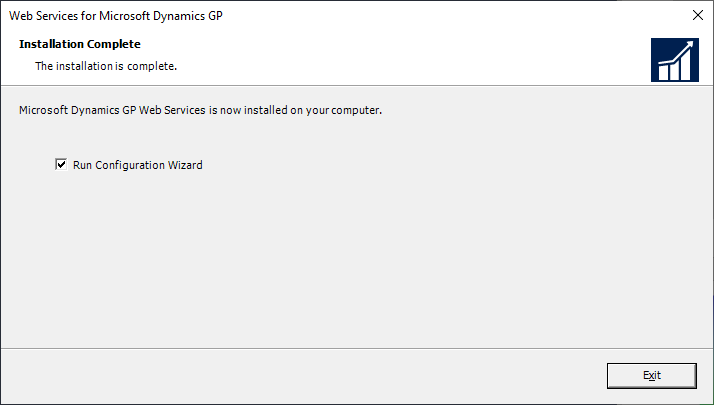 Web Services for Microsoft Dynamics GP - Installation Complete