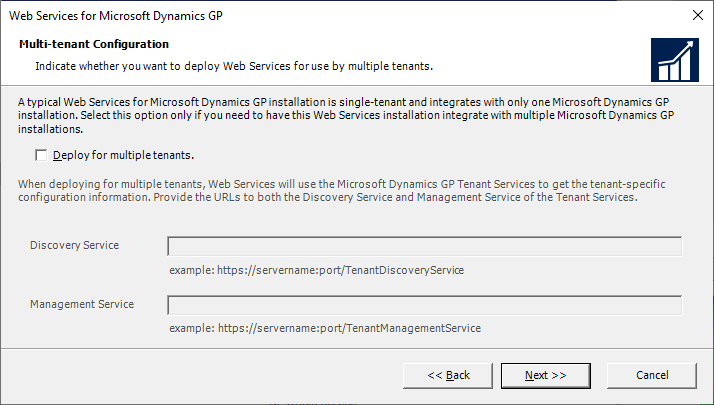 Web Services for Microsoft Dynamics GP - Multi-tenant Configuration