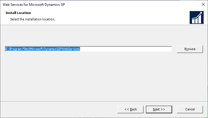 Web Services for Microsoft Dynamics GP - Install Location