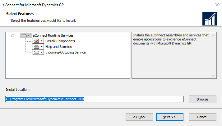 eConnect for Microsoft Dynamics GP - Select Features