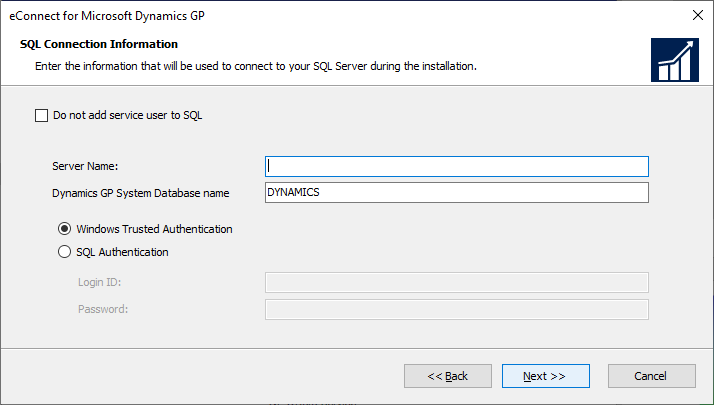 eConnect for Microsoft Dynamics GP - SQL Connection Information