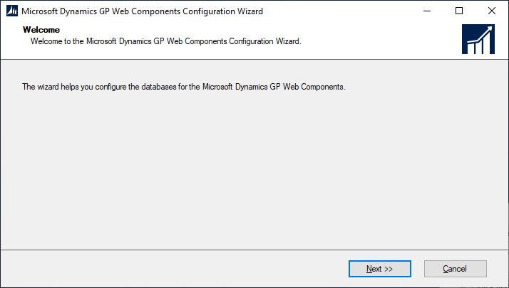Microsoft Dynamics GP Web Components Configuration Wizard - Welcome