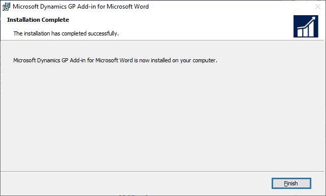 Microsoft Dynamics GP Add-in for Microsoft Word: