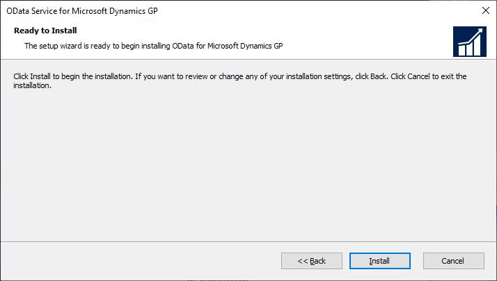 OData Service for Microsoft Dynamics GP: Ready to Install