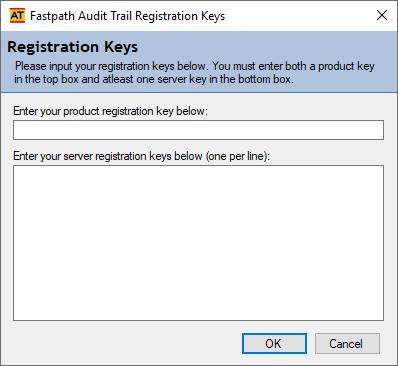 Fastpath Audit Trail Registration Keys