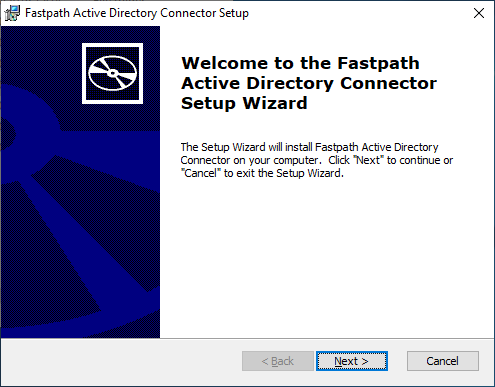 Fastpath Active Directory Connector Setup: Welcome to the...