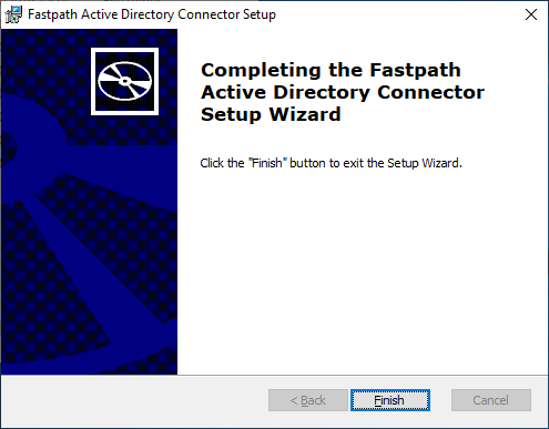 Fastpath Active Directory Connector Setup: Completing the...
