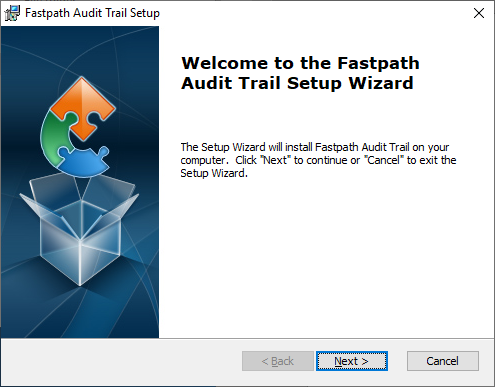 Fastpath Audit Trail Setup: Welcome to the Fastpath Audit Trail Setup Wizard