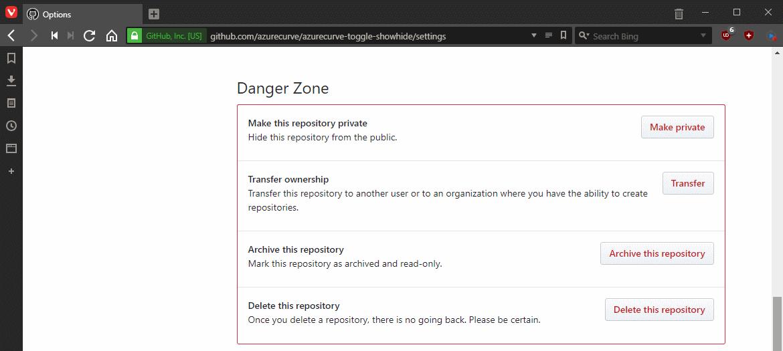 Danger Zone section
