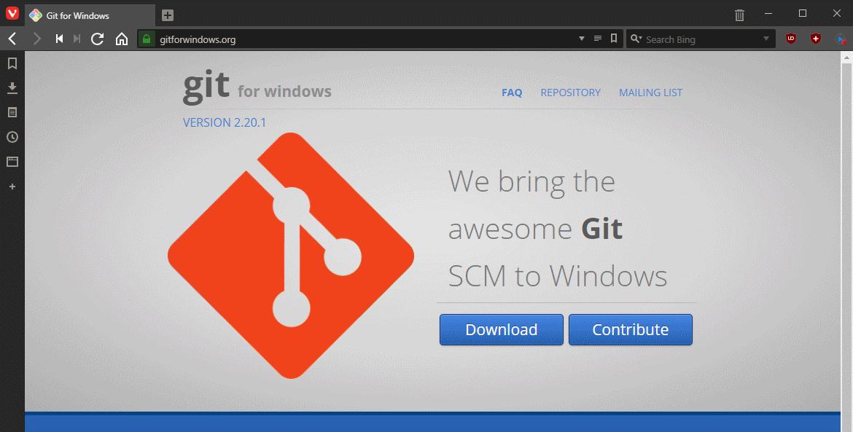 Download Git for Windows