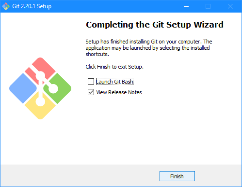 Git Setup: Completing the Git Setup Wizard