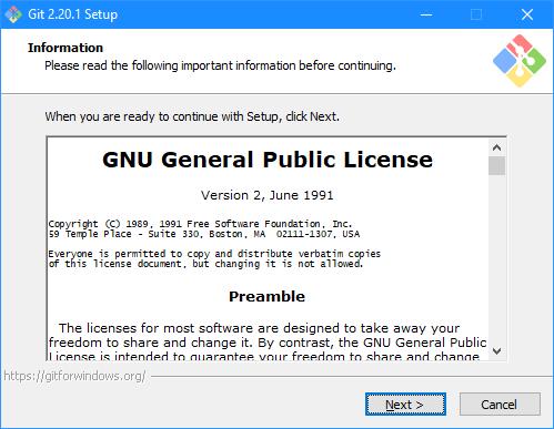 Git Setup: Information