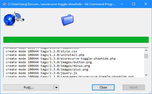 Git Command Progress