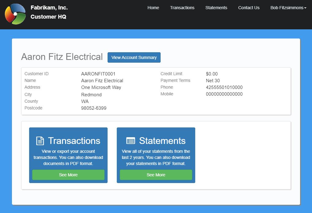 CustomerHQ home page