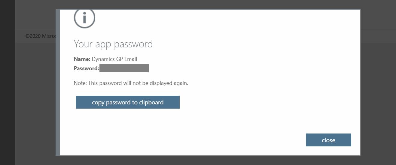 Your app password
