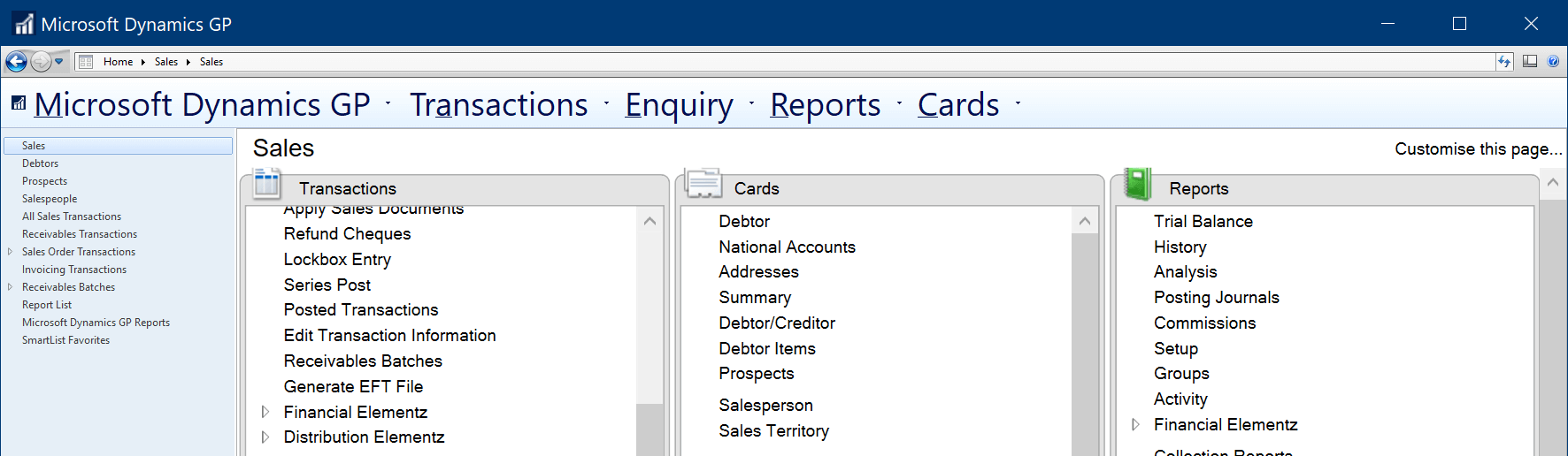 Dynamics GP with text showing too large