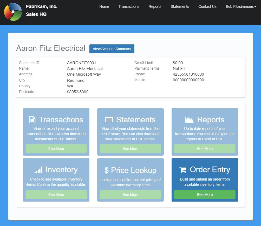 SalesHQ home page
