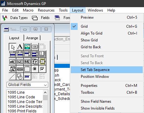 Set Modifier tab order